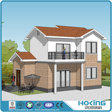 Construction Project Prefabricated Steel Structure Building for Villa House on Sale