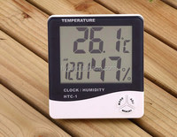 Probe MAX-MIN LCD digital lcd temperature and humidity meter clock