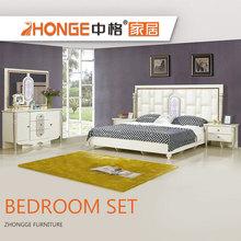 Modern New Design MDF Wooden Cheap Modren Royal Furniture Wardrobe Bedroom  Set Malaysia