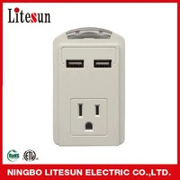 LA-1SC SURGE PROTECTED POWER ADAPTER WALL TAP WITH LED NIGHT LIGHT