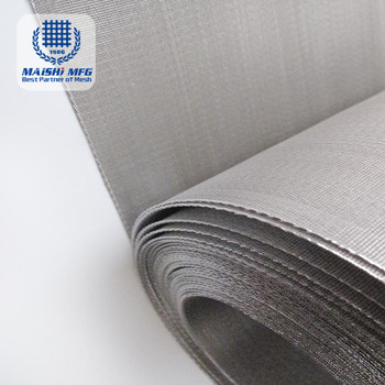 High Tension Micron Stainless Steel Filter Mesh Woven Net