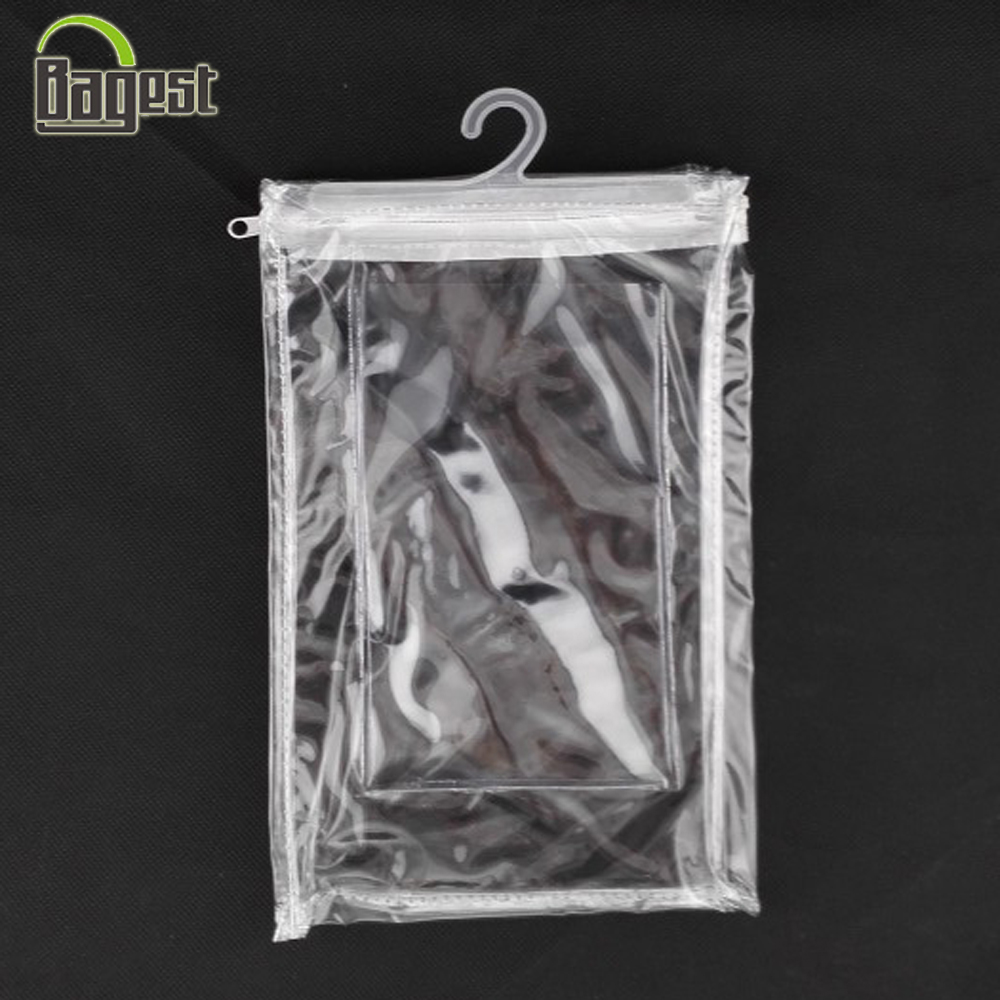 Customized Transparent PVC Packaging Bag with Hanger for Clothing