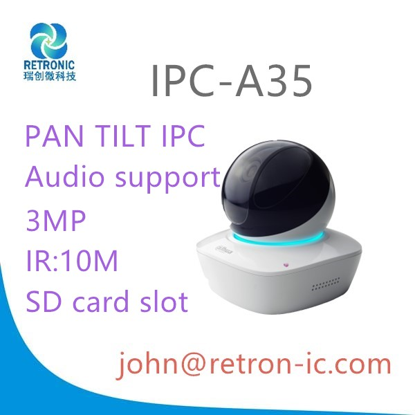 Original Dahua Pan Tilt Audio ipc 3MP IPC-A35 WIRELESS Wi-Fi Support IR Distance 10m SD card slot 128G ip camera