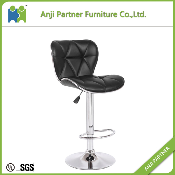 Entertainment leather vintage design bar chair and stool with high supporting back(Talas)