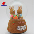 Rabbits Crystal Globe For Decor Hot Sale Cute Lovely Rabbit Snowball