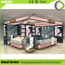 free design mall approved quality cosmetic display kiosk booth