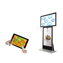 Floor standing 3g WiFi indoor movable advertising led tv display screens with high definition