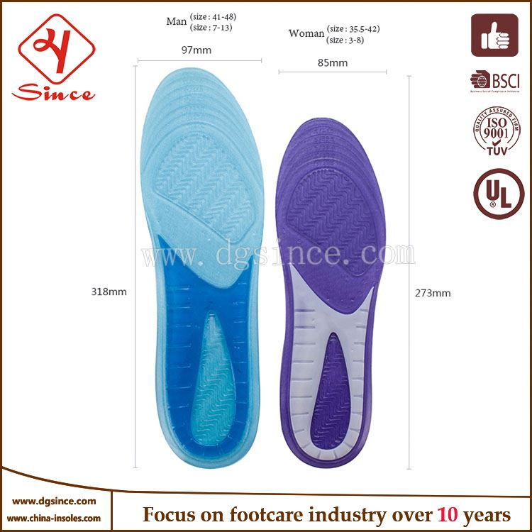alibaba china full length foot orthotic insole with complete arch support standard