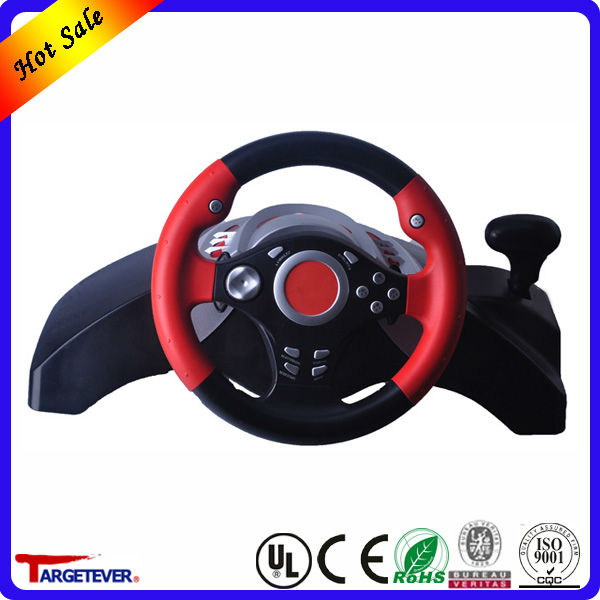 2015 new product USB Wheel With Vibration gaming steering wheel for pc
