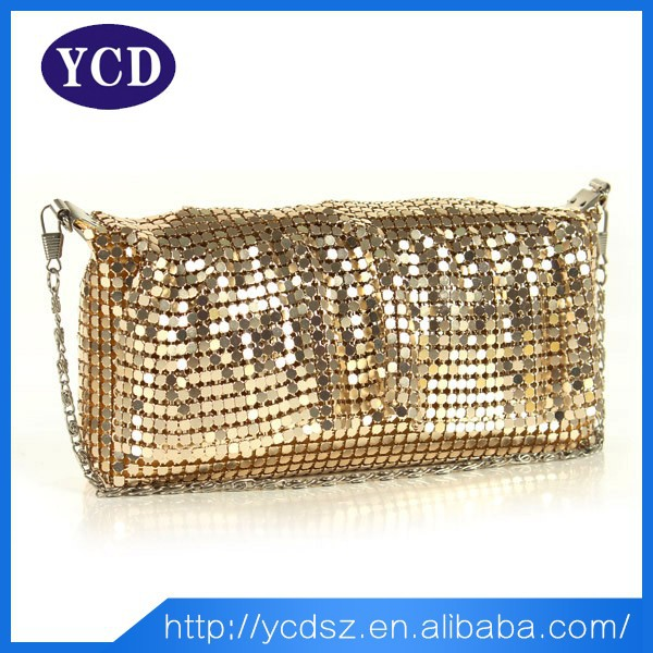 Alibaba China Beauty Gold Sequin Woman Hand Evening Clutch Bag