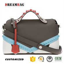 Rivet decoration International oem latest trends no name handbags
