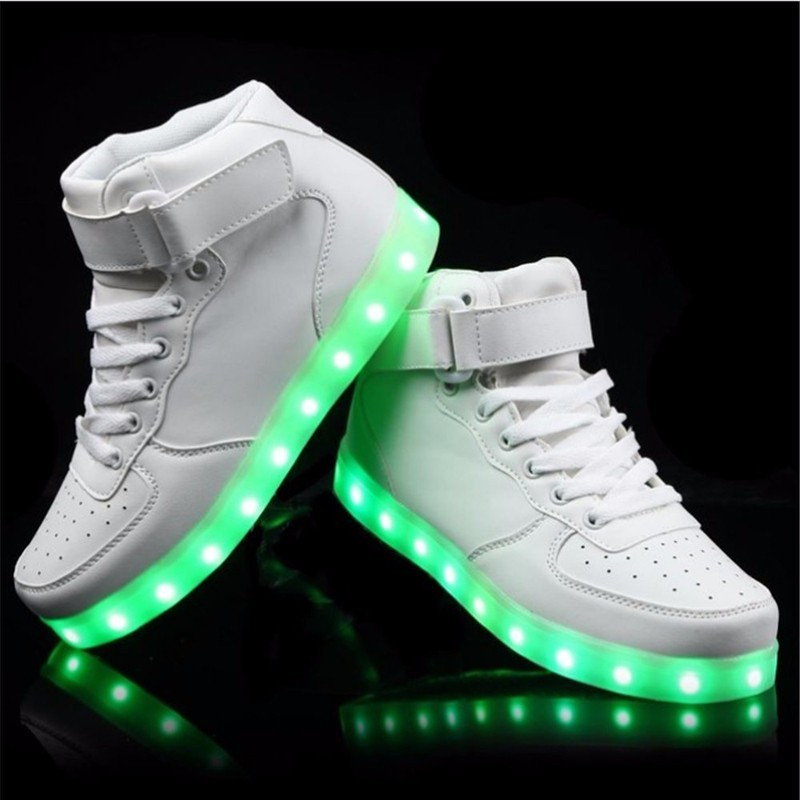Factory Wholesale Led Shoes, Led USB Charge Light Up Shoes,Led Luminous Shoes For Unisex