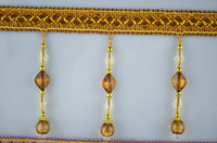 China curtain accessories beaded curtain tassel,Chinese style polyester beaded tassels trimming