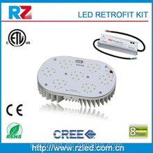 ETL cETL UL TUV meanwell driver cre led street light 120W led retrofit kits