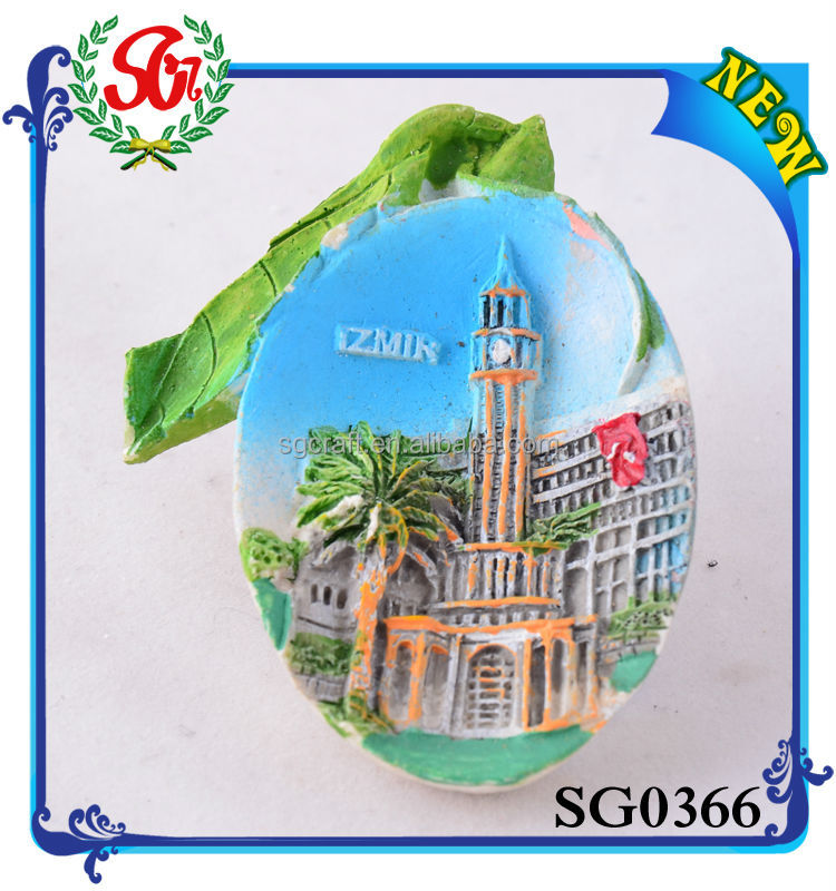 Fashion Sublimation resin mirror shape Fridge Magnet