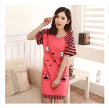 women cute cartoon printed cotton nightgown