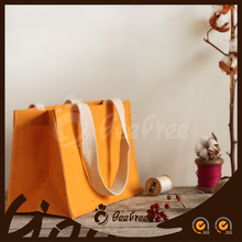 Top Quality Handmade Custom Wholesale Promotional Shopping Tote Handbag Colorful Jute Bag