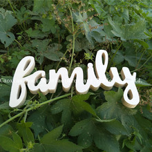 2017 High Quality Hot selling MDF wooden decorative English words home signs FAMILY,small wood letters for crafts