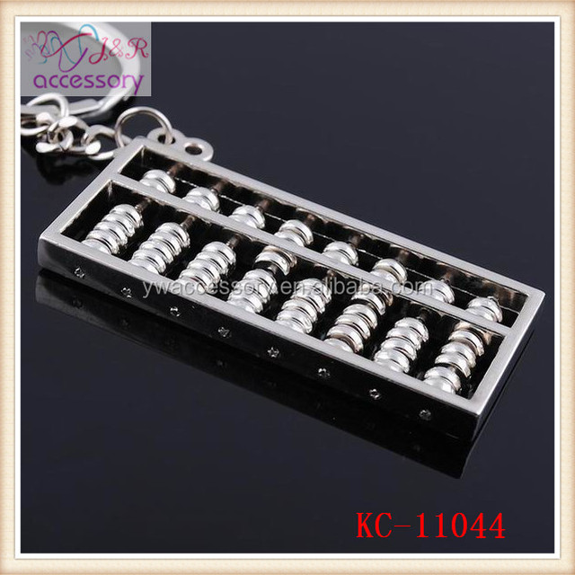 Hot sale Chinese style abacus shaped keychain,Chinese ancient calculator shaped key chain