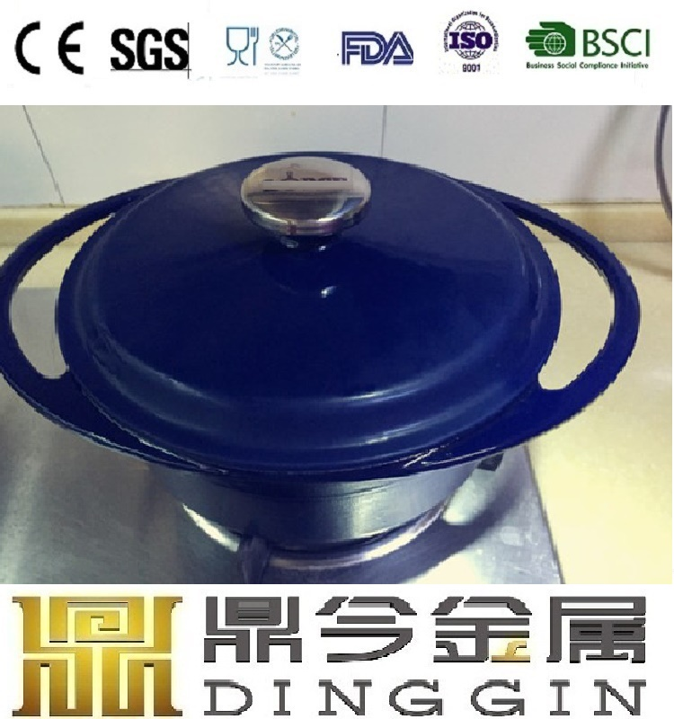 European enamel coated cast iron cookware