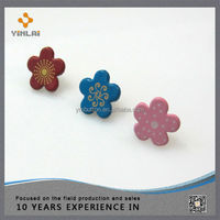 Fashion metal flower shape brads for Scrapbooking