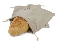 Fresh custom flax linen bread bag for craft gift