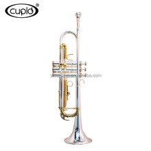 YTRU-301518 CUPID Professional Cheap Double color gold silver Trumpet