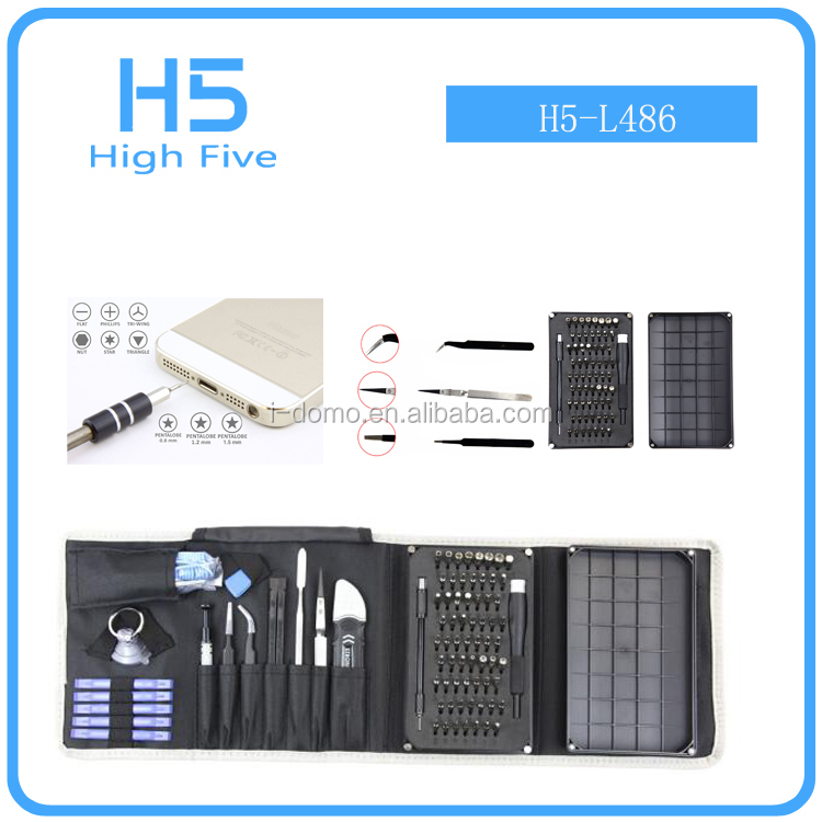 NEW Top 64ps Repair hand Tool Kit for cell smart iPhones Tablets Laptops Computers for Macbooks Electronics
