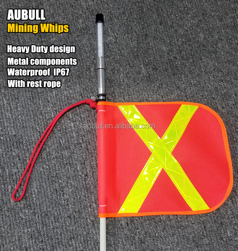 AUBULL Mining Whips LED flag for safety warning