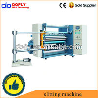 electronic plastic film slitting and rewinding machine