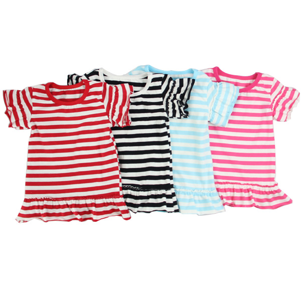 Kaiyo new products 2016 new models fashion blouses stripes kids tops round neck baby girl T-shirts 100% cotton