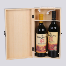 High End Custom Design Wooden Gift Double Battle Wine Boxes
