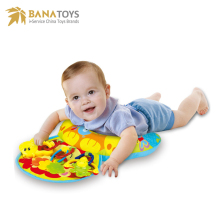 Wholesale baby play mat with plastic rattle