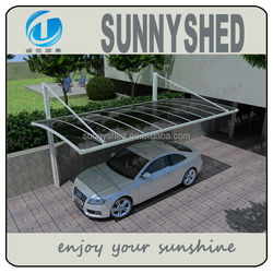 shelter cars DIY with aluminum frame and polycarbonate roof