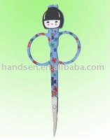 11cm different fashional beauty girl pattern eyebrow scissors TA1039