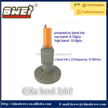 high quality c band lnb 5150mhz together with universal single ku band lnb best price