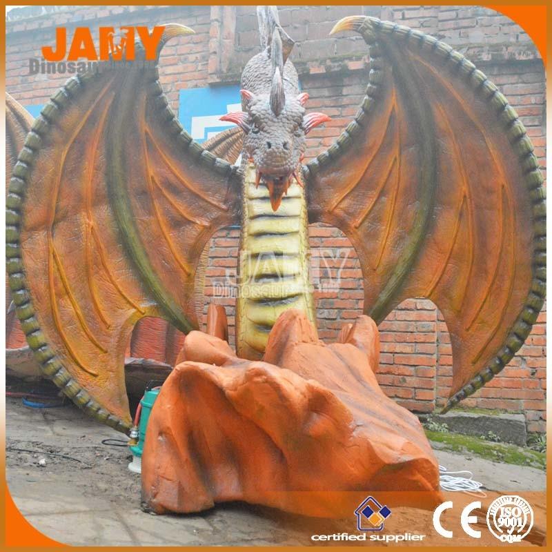 Amusement park decoration model western animatronic dragon for Amusement park decoration ideas