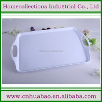 Unique design melamine plastic carrying tray with custom print
