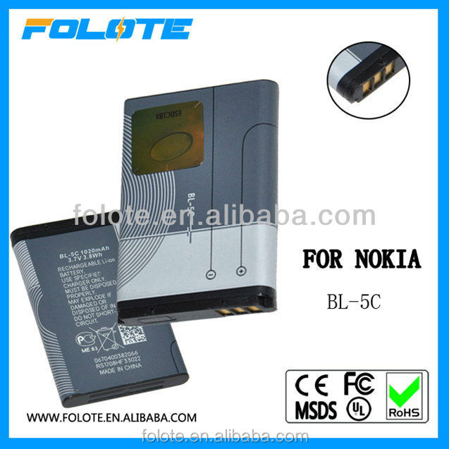 1100mah High power customized low price mobile phone battery for nokia bl-5c
