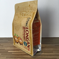 Brown kraft paper bag logo print with side window