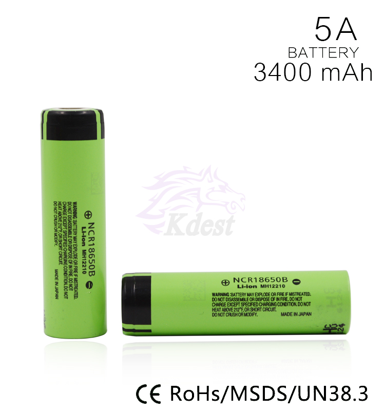 Genuine ncr 18650 nmc 3400 mah lithium ion rechargeable battery protected 18650 li ion battery for electric scooter