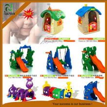 plastic play house slide and swing set