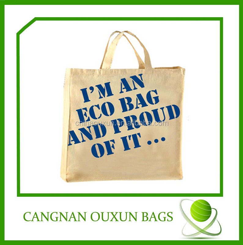 custom high quality eco hand painted cotton bag