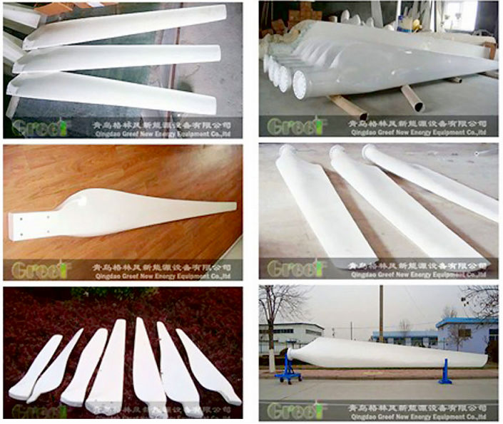 GREEF wind turbine generator FRP Blades