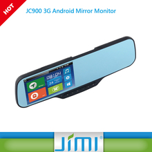 2016 best seller JC900 dvr with two remote cameras car kit with bluetooth car dvr miror gps recorder