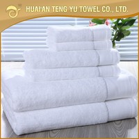 100% organic cotton pure color white high quality 16s terry star hotel best choice hotel towel