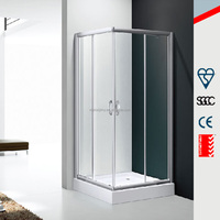 aluminum framed glass doors, standard size shower room 90x90cm MD-GB002