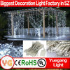 Wholesale CE ROHS approved waterproof led christmas lights curtain light with snowflake 6*3m 600leds 110V 9 color with PVC wire