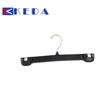Factory wholesale plastic clips pants hanger trousers rack hanger with metal hook