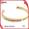fashion gold jewelry tag logo engraving bangle cuff bracelet blank